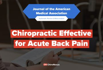 Chiroptractic Effective for Acute Back Pain