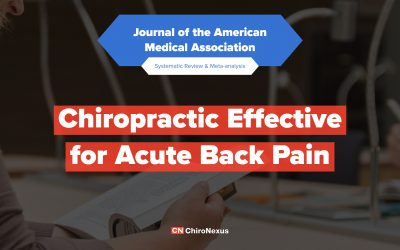 Chiropractic Effective for Acute Back Pain